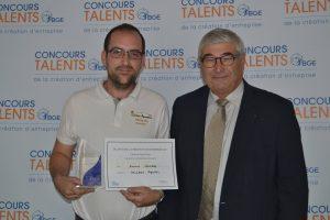 Lauréat du Concours Talents BGE de la création d'entreprise 2017 !