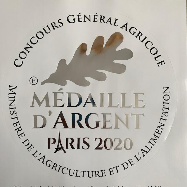2020 – Récompensé au Concours Général Agricole de Paris