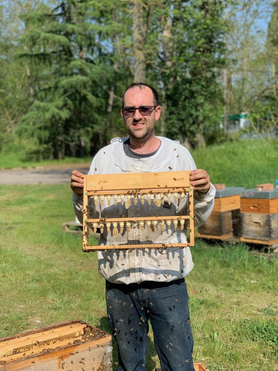 Alexandre Valgrès, apiculteur dans les Yvelines